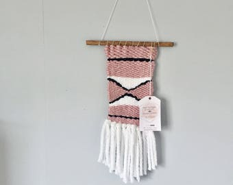 Medium woven wall hanging hand