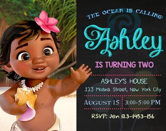 Moana Birthday, Moana Invitation, Moana Birthday Invitation, Moana Birthday Party, Moana Party, Moana, Moana Invites, Moana