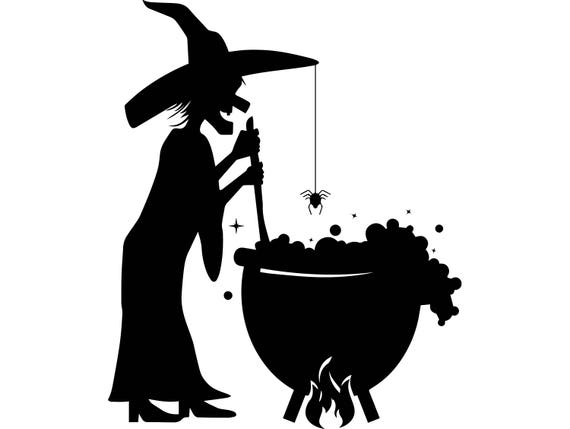 Halloween Witch Cauldron Wizard Scary October Evil Holiday
