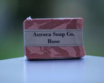 3 Soap Bars - Rose - Handcrafted Artisan Soap Bars