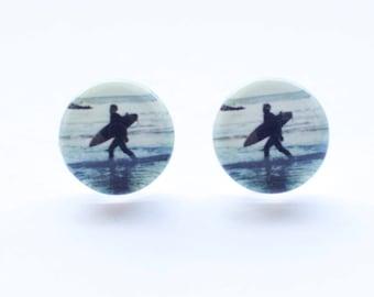 Surfer Stud Earrings