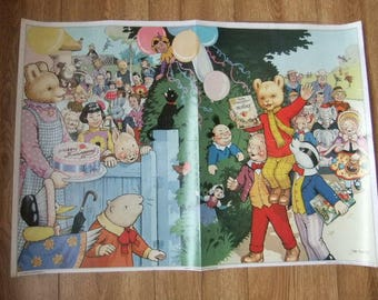 John Harrold Rupert Bear Poster Ruperts Wondeful Day