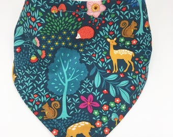 Forest Woodland Bandana Drool Bib Baby Bib Baby Shower Gift Bibdana Toddler Bib Teething Baby Baby Girl  Baby Boy
