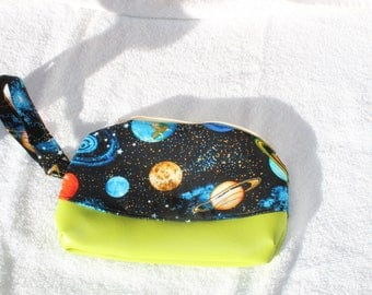 Out of the world purse with a green faux vinyl