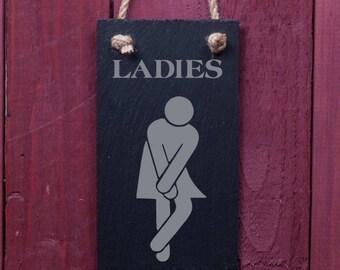 Fun slate sign: Ladies (FAD1052)