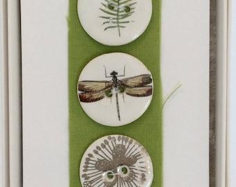 Woodland Handmade Porcelain Buttons by Caroline Barnes