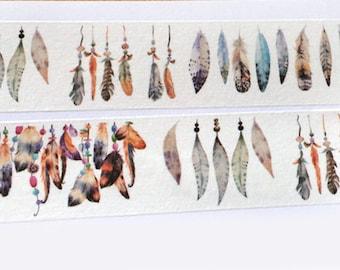 Washi Tape Watercolor Feather Decorative Washi Tape4 cm