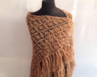 Shawl, crochet, angora wool