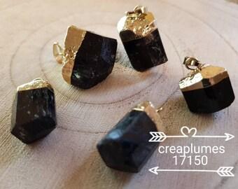 Set of 5 tourmaline pendants