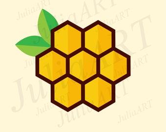cartoon honeycomb vector image