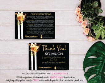 Monat Thank you card, Monat Care Instruction, Monat Care Card, Fast Free Personalization, Custom Monat Hair Care Card, Printable file MN89