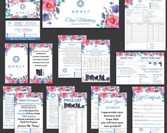 Monat Marketing kit, Custom Monat Business Card, Monat Hair Care, Monat Global, Monat starter Pack, Monat Flyer, Printable Card MN05