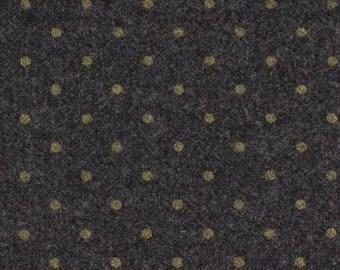 Wool grey gold dots