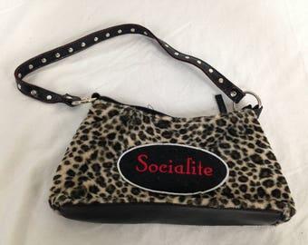 Leopard / cheetah print socialite purse