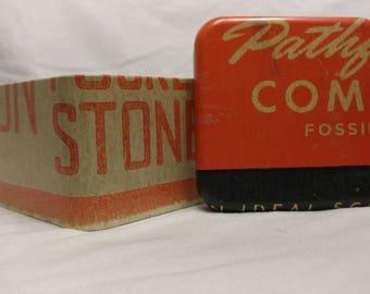 Decorative Fossil Metal Storage Box