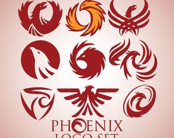 Instant Download Phoenix Logo Set 1