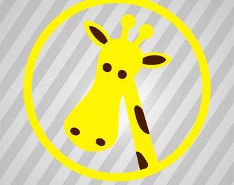 Giraffe Head - Svg Dxf Eps Silhouette Rld Rdworks Pdf Png Ai Files Digital Cut Vector File Svg File Cricut Laser Cut