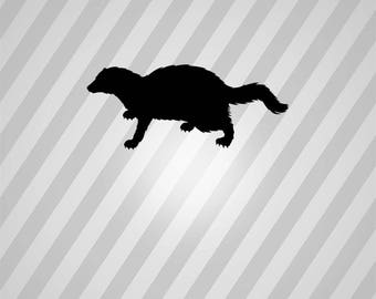 Cat Silhouette Fisher Cat - Svg Dxf Eps Silhouette Rld RDWorks Pdf Png AI Files Digital Cut Vector File Svg File Cricut Laser Cut