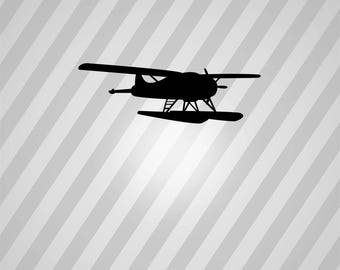 Seaplane Silhouette Airplane - Svg Dxf Eps Silhouette Rld RDWorks Pdf Png AI Files Digital Cut Vector File Svg File Cricut Laser Cut