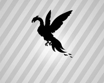 phoenix Silhouette - Svg Dxf Eps Silhouette Rld RDWorks Pdf Png AI Files Digital Cut Vector File Svg File Cricut Laser Cut