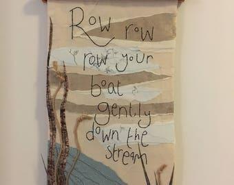 Row Row Row Your Boat - Nursery Wall Art
