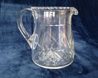 Classic Edwardian heavy cut crystal water jug