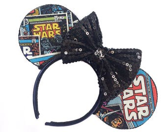 Star Wars Mouse Ears | Star Wars Comics Mouse Ears  | Mouse Ears Headband | Geek Mouse Ears | Mouse Ears