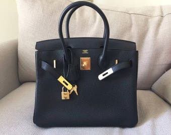 Hermes birkin 30 Black togo leather and gold Hardwares ( X stamp - 2017 )