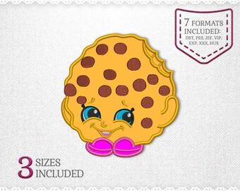 Shopkins Kooky Cookie Applique Machine Design - 2 Sizes - INSTANT DOWNLOAD - Applique, Embroidery, Designs