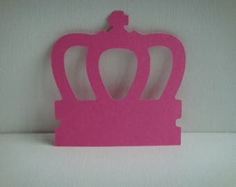 Custom paper drawing fuchsia Crown cutout