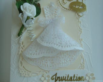 Folded card white embossed hearts Kit share marriage to make you even