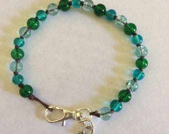 The Evergreen Lake anchor bracelet