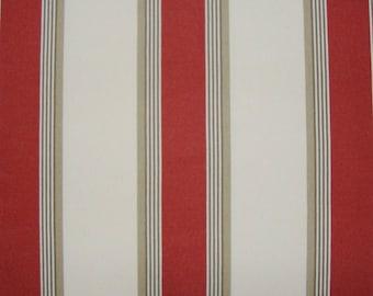 Fabric, Jacquard stripes bayadères, red, 280 cm H Amario, Thévenon