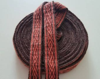 Galon cards,  fine wool, sold to 4 inch length. 0,78 inch wide.