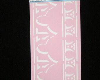 NEW STENCIL ROSE 35 x 13 cm: Gothic decor