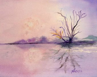 watercolor winter day