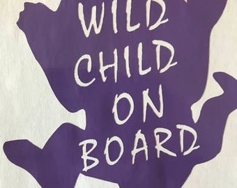 Wild Child on Board Decal