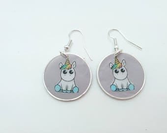 Polymer clay Unicorn earrings