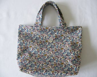 Bag LIBERTY Betsy Ann fig (Bobby) Flower button Pearl