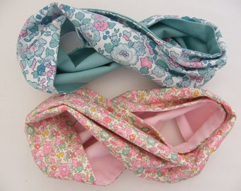 Snood LIBERTY Betsy menthe/rose 12/18 mois 2/3/4/6/8 ans