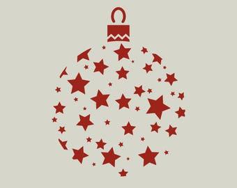 Christmas ball. Christmas decoration. (Ref 175) adhesive vinyl stencil
