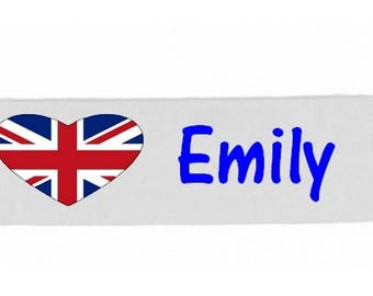 White girl London personalized with name banner