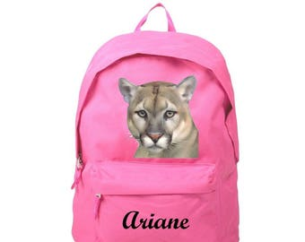 Backpack pink Puma personalized with name