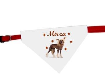 Necklace personalized with name dog bandana