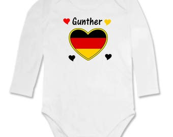 Personalized with name Germany baby Bodysuit