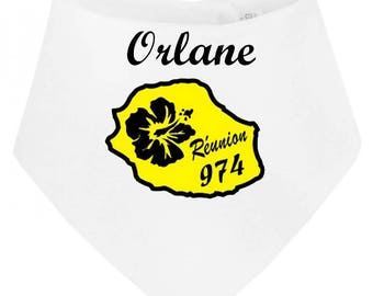 Personalized with name meeting baby bandana bib