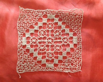 lace hand made inlay square