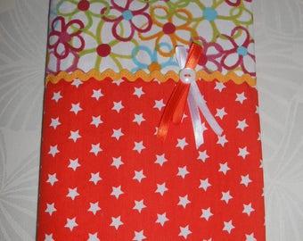 Health book, notebook, cotton orange