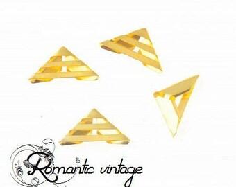 10 beautiful embellishment 16 * 23mm gold metal corners