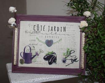 Home decor garden themed frame